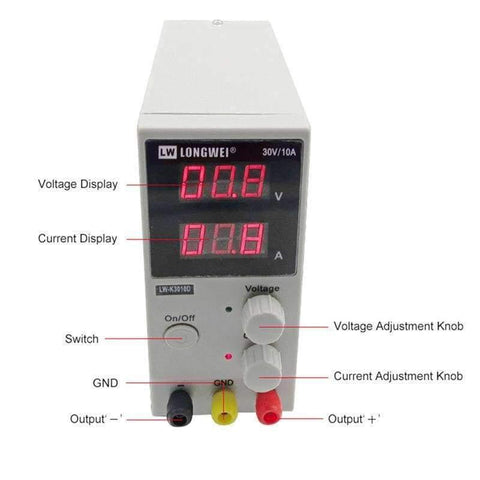 Planet Gates China LW-K3010D DC Power Supply Adjustable Digital Lithium Battery Charging 30V 10A Voltage Regulators Switch Laboratory Power Supply