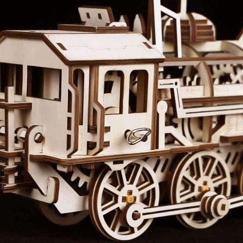 Planet Gates China Robotime DIY Clockwork Gear Drive Locomotive 3D Wooden Model Building Kits Toys Hobbies Gift for Children Adult LK701