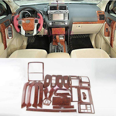 Image of Planet Gates Chrome Package For Toyota Land Cruiser 150 Prado LC150 FJ150 2010-2017 Interior Wooden Cover Trim Chrome Package Car Styling Accessories