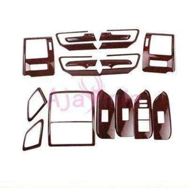 Planet Gates Chrome Package For Toyota Land Cruiser 150 Prado LC150 FJ150 2010-2017 Interior Wooden Cover Trim Chrome Package Car Styling Accessories