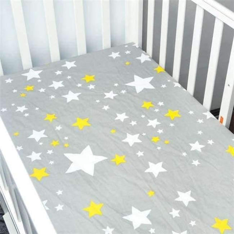 Image of Planet Gates CLS0011 Newborn baby crib fitted sheets Cartoon soft crib bed sheet cotton kids bedding mattress protectors covers baby bedsheet 130*70