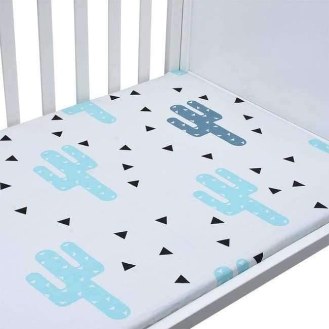 Planet Gates CLS0025 Newborn baby crib fitted sheets Cartoon soft crib bed sheet cotton kids bedding mattress protectors covers baby bedsheet 130*70