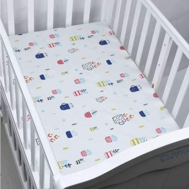 Planet Gates CLS0027 Newborn baby crib fitted sheets Cartoon soft crib bed sheet cotton kids bedding mattress protectors covers baby bedsheet 130*70