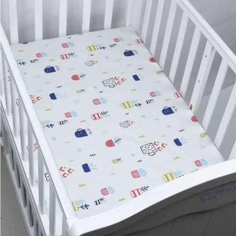 Image of Planet Gates CLS0027 Newborn baby crib fitted sheets Cartoon soft crib bed sheet cotton kids bedding mattress protectors covers baby bedsheet 130*70