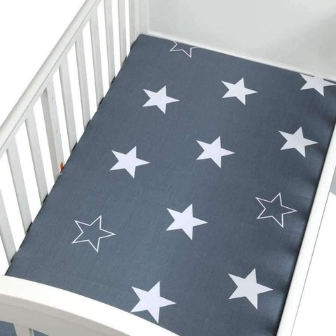Image of Planet Gates CLS0029 Newborn baby crib fitted sheets Cartoon soft crib bed sheet cotton kids bedding mattress protectors covers baby bedsheet 130*70