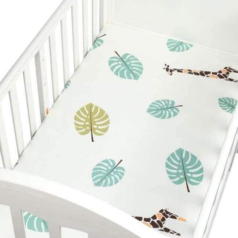 Image of Planet Gates CLS0033 Newborn baby crib fitted sheets Cartoon soft crib bed sheet cotton kids bedding mattress protectors covers baby bedsheet 130*70