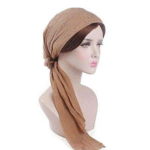 Image of Haimeikang 2018 New Women Chemo Cap Turban Long Hair Band Scarf Head Wraps Hat Boho Pre-Tied Bandana Hair Accessories for Women