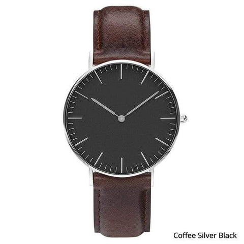 Image of Planet Gates Coffee silver black Mens Stainless Steel Bracelet Quartz Watch Fashion Rose Gold Silver Man Watch Style Men Dress Watch 40mm