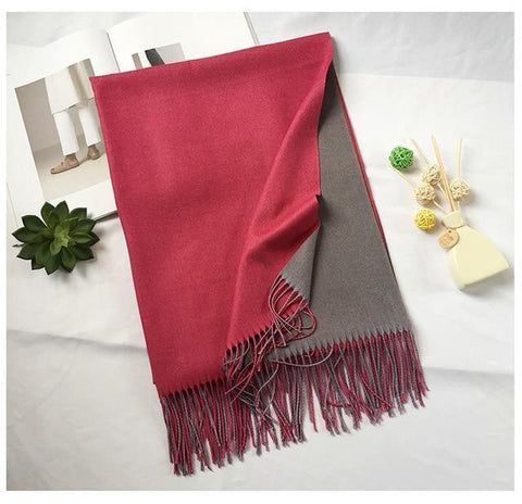 Planet Gates color 11 Winter men scarf fashion solid double-side soft cashmere scarves shawl and wraps bandana
