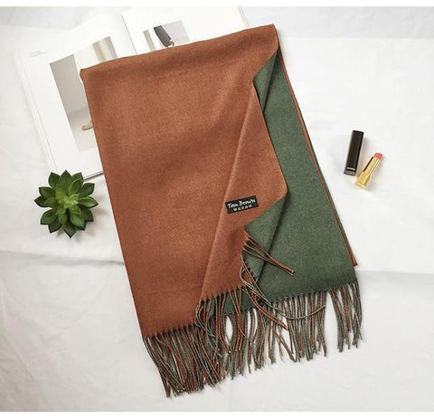 Planet Gates color 13 Winter men scarf fashion solid double-side soft cashmere scarves shawl and wraps bandana