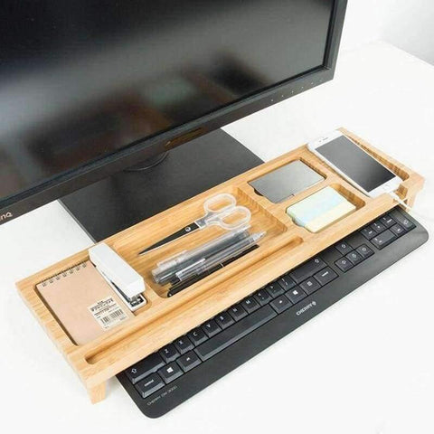 Planet Gates Computer Keyboard Stationery Holder Wooden Creative Office School Supplies Desk Accessories Organizer Stationery Holder