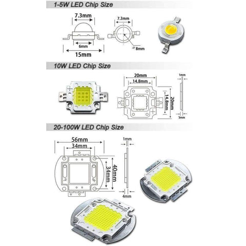 Image of Planet Gates Cool White 10000K / 100W / 10 Pieces High Power LED Matrix 1W 3W 5W 10W 20W 30W 50W 100W Warm Pure Cold Natue White Light Bulb Lamp SMD COB 3000K 6000K 10000K Indoor