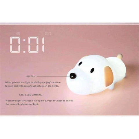 Planet Gates Creative stud silicone lamp USB charging PAPA puppy night light infinitely dimmer dimmer lamp birthday gift