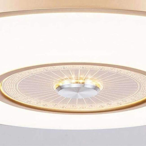 Image of Planet Gates D40cm wall switch LED Bluetooth Musical Stainless steel Acryl Ceiling Fan LED Ceiling Lights.LED Ceiling Light.Ceiling Lamp For Foyer Bedroom