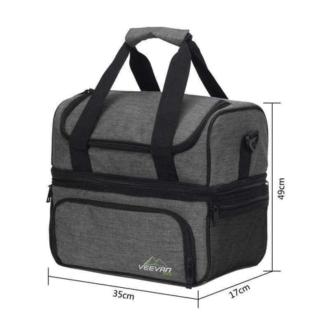 Planet Gates Dark Gray VEEVANV Insulated Lunch Cooler Bags For Food Family Function Waterproof Picnic Large Storage Shoulder Bag Tote Messenger Bags