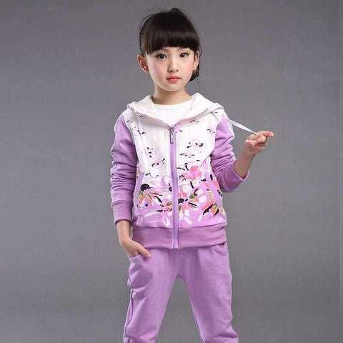 Image of Planet Gates darkpink / 4T Spring Autumn teenage girls clothing set zipper sports clothes for girls children tracksuit kids sport suit 4-12T