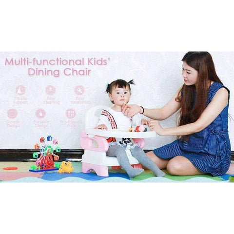 Planet Gates Deep Sky Blue Adjustable Anti-Slip Multi-Functional Kids' Dining Chair Children Chairs Children Furniture