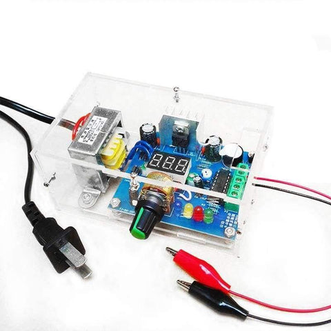 Planet Gates DIY AC 220V to DC 1.25V-12V LM317 Adjustable Voltage Power Supply Moudle DIY Kit Electronic Production Power Supply DIY Kits