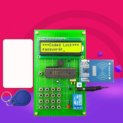 Planet Gates DIY kit RF password lock design Access control card unlocking system RF card IC card Electronic course kit