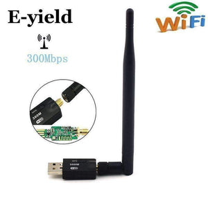 Planet Gates E-yield 300 Mbps USB Wifi Adapter USB 2.0 Wireless 2.4GHz Network Lan Card Antenna For Windows XP/Vista/7 Linux for Mac OS X