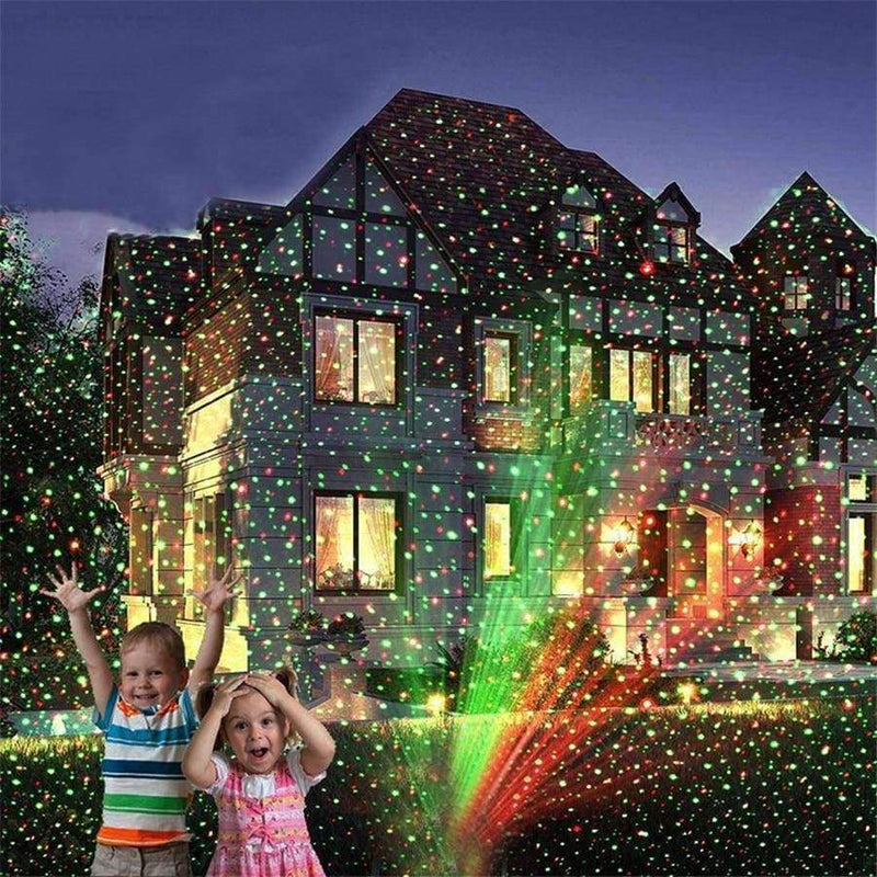 Red Green Holiday Light Christmas Laser Projector Lamp Outdoor LED Tree  Light Xmas Lawn Garden Star - Planet Gates