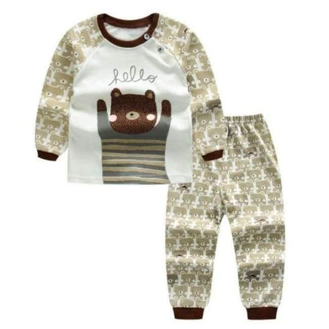 Planet Gates F / 24M Cartoon Shirt+pants 2pcs Children's Clothing Set Outfit Toddler Baby Boys Long Sleeves Set 12m-5t For Autumn