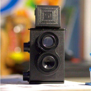 Planet Gates Fashion Black DIY Twin Lens Reflex TLR 35mm Lomo Film Camera Kit Classic Play Hobby Photo Toy Gift for Children/ Students