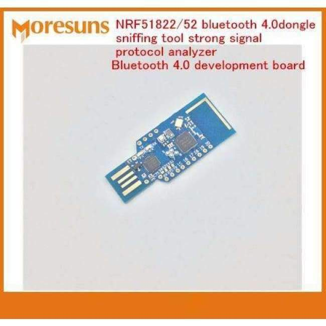 Fast Free Ship NRF51822/52 bluetooth 4 0 dongle sniffing tool strong signal  protocol analyzer Bluetooth 4 0 module Demo board