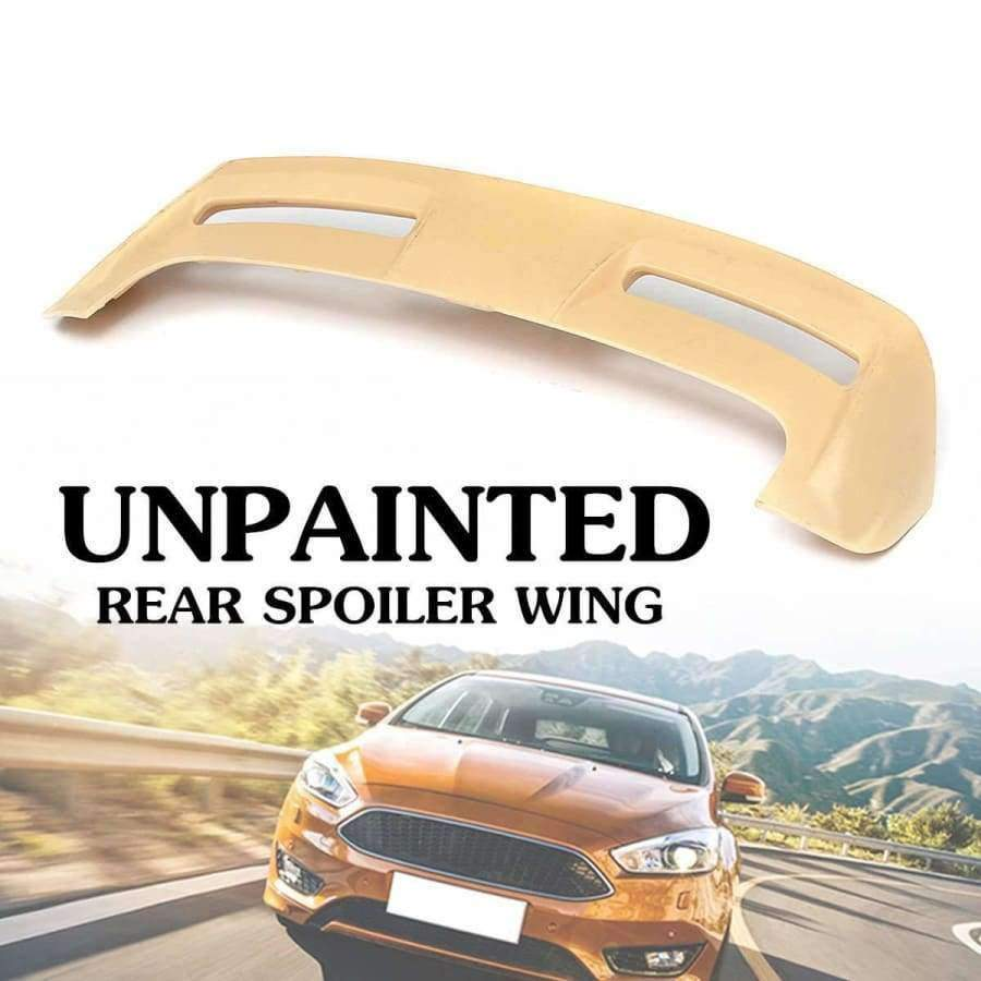 Planet Gates Fit for Ford-Focus ST Hatchback 2013-2018 ABS Unpainted Rear Roof Spoiler Wing 123.5x25cm Auto Replacement Parts Exterior Part