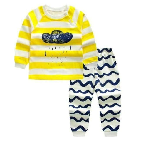 Planet Gates G / 24M Cartoon Shirt+pants 2pcs Children's Clothing Set Outfit Toddler Baby Boys Long Sleeves Set 12m-5t For Autumn
