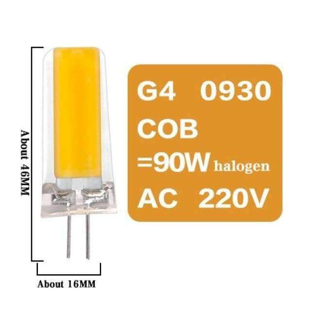 Planet Gates G4 0930 COB 9W 220V / No / Warm White Led G4 G9 E14 Lamp Bulb Dimming Lighting AC DC 12V 220V 3W 6W 9W COB SMD Replace Halogen Lights Spotlight Bombillas Chandelier