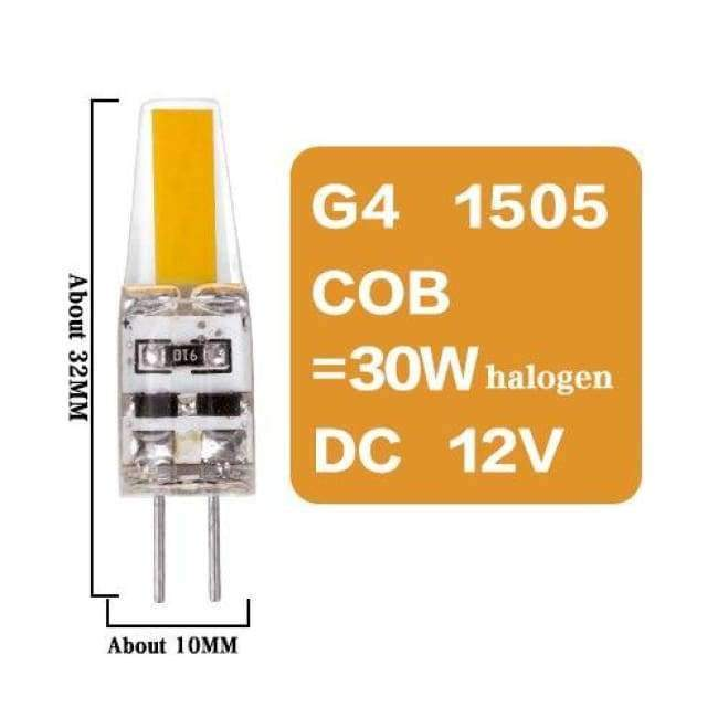Planet Gates G4 1505 COB 3W DC12V / Yes / Warm White Led G4 G9 E14 Lamp Bulb Dimming Lighting AC DC 12V 220V 3W 6W 9W COB SMD Replace Halogen Lights Spotlight Bombillas Chandelier
