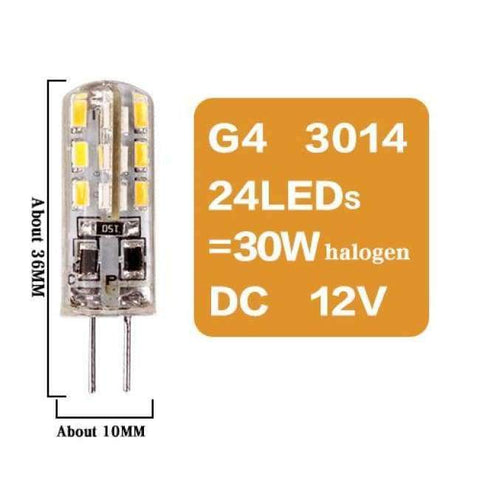 Image of Planet Gates G4 3014 24LED DC12V / Yes / Warm White Led G4 G9 E14 Lamp Bulb Dimming Lighting AC DC 12V 220V 3W 6W 9W COB SMD Replace Halogen Lights Spotlight Bombillas Chandelier