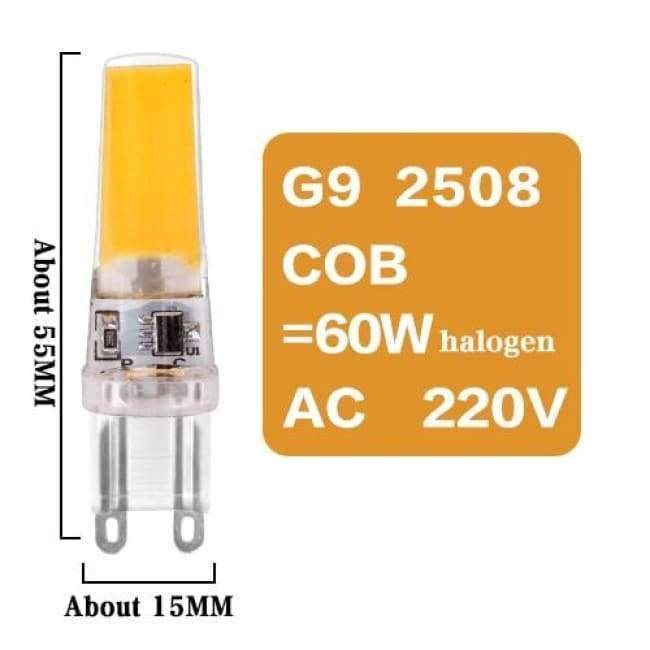Planet Gates G9 2508 COB 6W 220V / No / Warm White Led G4 G9 E14 Lamp Bulb Dimming Lighting AC DC 12V 220V 3W 6W 9W COB SMD Replace Halogen Lights Spotlight Bombillas Chandelier