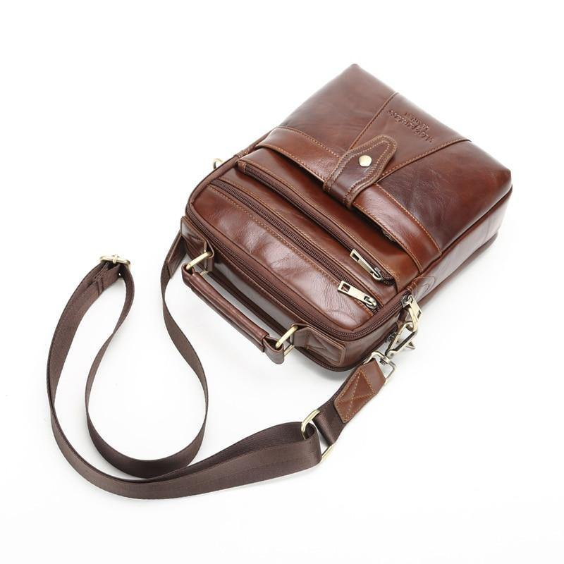 579864cdbf06 Genuine Leather Messenger bags for men Shoulder Bag Business Briefcase  Crossbody Bag Male Totes Purse iPad Handbags