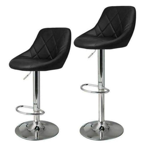 Planet Gates Germany / Black Homdox 2pcs Synthetic Leather Swivel Bar Stools Chairs Height Adjustable Pneumatic Heavy-duty Counter Pub Chair Barstools N20*