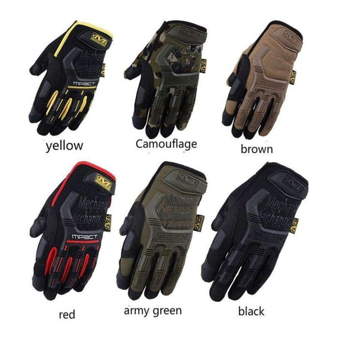 Image of Planet Gates Gloves Army green Mechanix Wear M-Pact Army Military Tactical Gloves Outdoor Paintball Shooting Full Finger Mittens