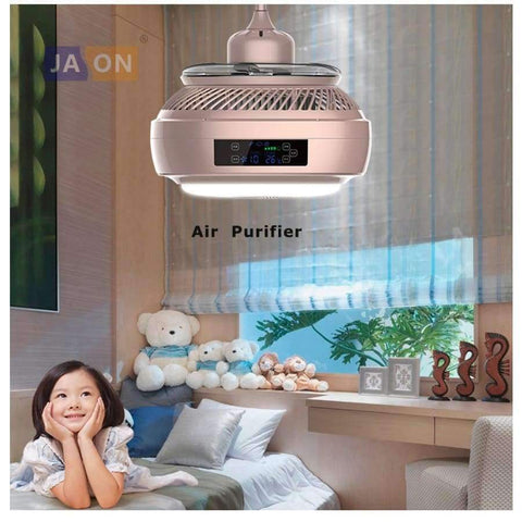 Image of Planet Gates Gold / changeable color RC LED Modern Alloy Acryl ABS Gold Silver Air Purifier Ceiling Fan.LED Lamp.LED Light.Ceiling Lights.LED Ceiling Light.For Foyer