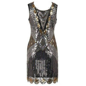 Beading Vintage Flapper Dresses Roaring 1920s Gatsby Themed Party Dress  Girl Loose Type Sleeveless Event Dress