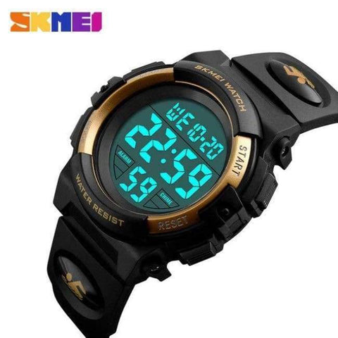 Planet Gates Gold SKMEI Brand Children Watch Kids Outdoor Sports Watches Multifunctional Waterproof LED Digital Wristwatches For Boy&Girls Relogio