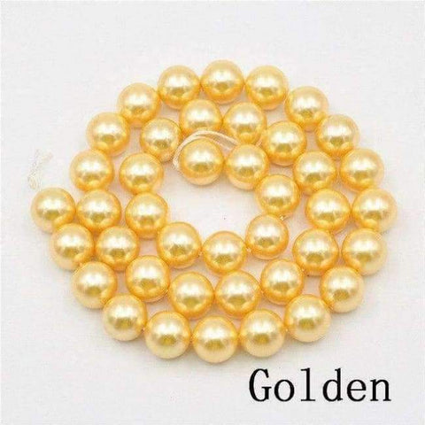 Planet Gates golden Charming 10mm Natural Mixed Color Black Shell Pearl Beads DIY Accessories Gift Manual Make Jewelry Wholesale Price AAA+ 16inch