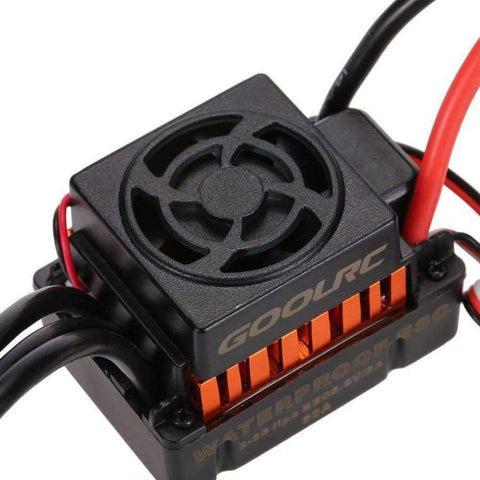 Planet Gates GOOLRC Waterproof 60A Brushless ESC Electric Speed Controller with 5.8V/3A BEC for 1/10 RC Car Electronics Accessories Parts