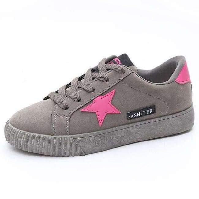 Planet Gates gray / 4.5 Autumn Fashion Platform Sneakers Women Trainers Pink Vulcanized Shoes Basket Femme Ladies Casual Shoes Flat Zapatillas Mujer