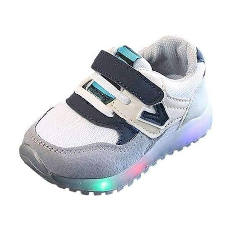 Image of Planet Gates Gray / 6.5 Fashion boys girls shoes leather Cool  toddler glowing sneakers first walkers elegant casual baby shoes