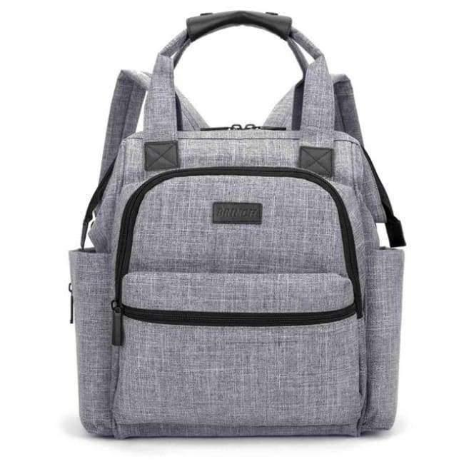 Planet Gates Gray Fashion Diaper Bag Baby Bag Waterproof Lightweight Multifunctional Mom Backpack Maternity Bag for Baby Care