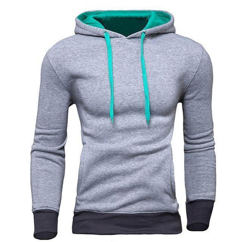 Planet Gates Gray / M Men's Sweatshirt  New design Fashion Solid Hooded Casual Autumn Hoodies 4 Colors Male High Quality Pullover