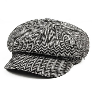 Men's Panel Tweed Newsboy Caps Format fitting Driving Hat Khaki Gray