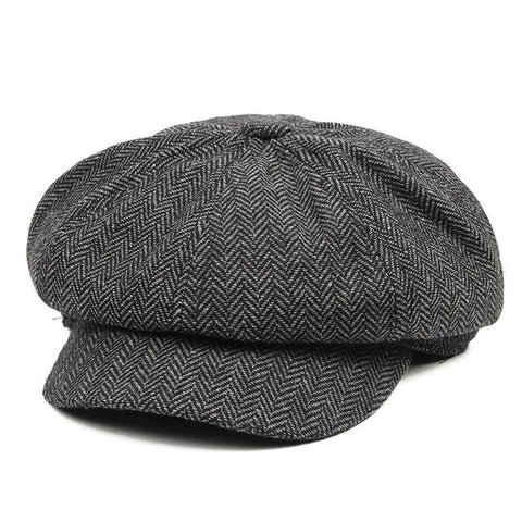 Planet Gates gray Men's Panel Tweed Newsboy Caps Format fitting Driving Hat Khaki Gray