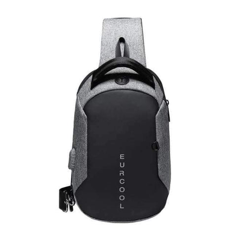Planet Gates Gray / Small Multifunction Crossbody Bags Men USB Charging Chest Pack Short Trip Messengers Chest Bag Water Repellent Shoulder Bag Male n1825