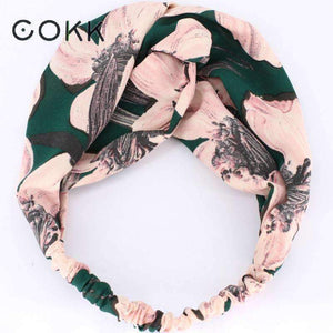 Planet Gates green 1 COKK Sweet Rose Flower Headband Hair Accessories For Women Wide Hairband Turban Hair Bow Headwear Elastic High Quality Summer